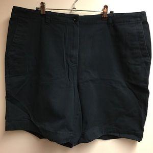 L.L.Bean Classic Fit Straight Navy Shorts